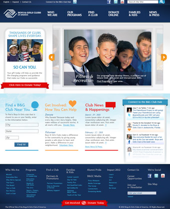 The Boys and Girls Club of America Phizzpop Winning Website