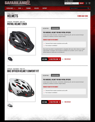 Safariland Kona Bike Website